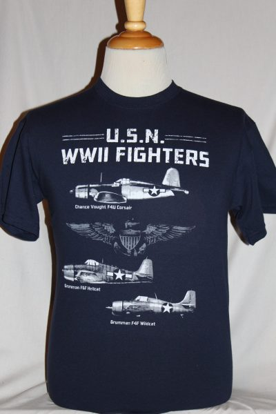 Wwii Us Navy Fighter Aircraft T Shirt The Soldier And
